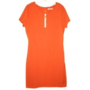 Anthropologie Cluny Orange Short Sleeve Dress 14